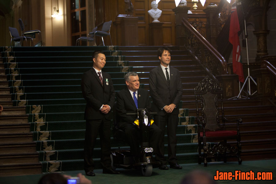 Paul Nguyen, Hon. David C. Onley, Ontario Lieutenant Governor, Dr. Eric Hoskins, Ontario Minister of Citizenship and Immigration