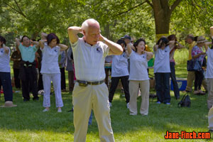 Tai chi instructor at 70 years old - a picture of perfect health!