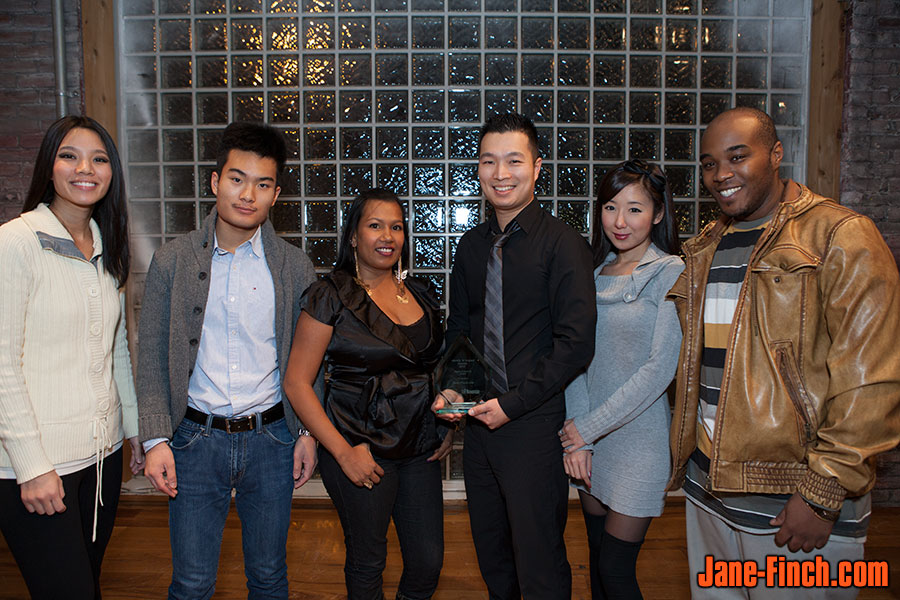 David Nguyen receives the Equity and Diversity Award at the 2012 Identify 'N Impact Awards