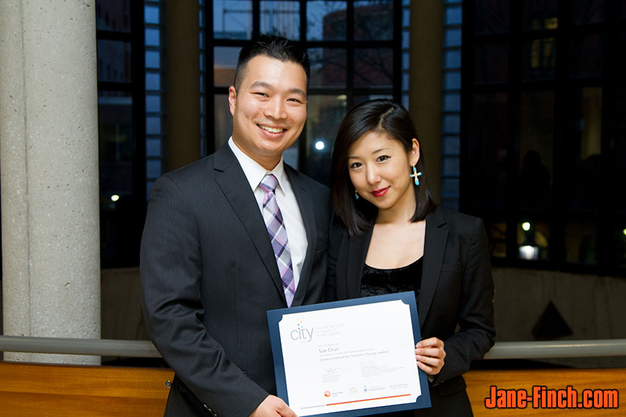 Sue Chun with Paul Nguyen at the 2013 CITY Leaders graduation