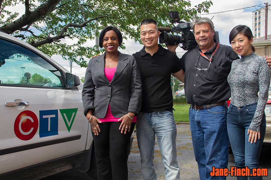 CTV News Toronto Diversity Reporter Karlene Nation with Paul Nguyen and Sue Chun