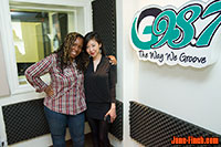 G98.7 FM host Jemeni G interviews Sue Chun