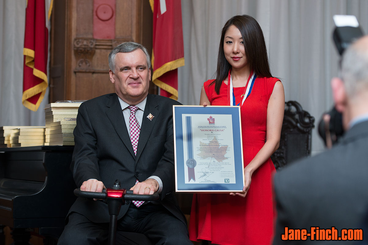 2013 National Ethnic Press and Media Council of Canada Awards: Lieutenant Governor of Ontario, David C. Onley, with Sue Chun