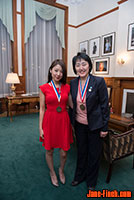 2013 National Ethnic Press and Media Council of Canada Awards: Sue Chun with Epoch Times editor, Cindy Guo