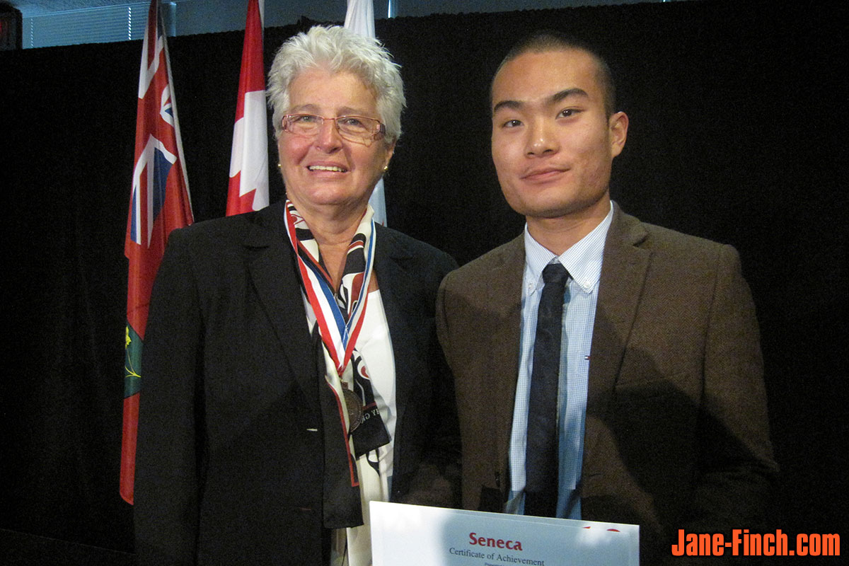 Jane-Finch.com producer David Nguyen with Ontario Human Rights Commissioner, Barbara Hall
