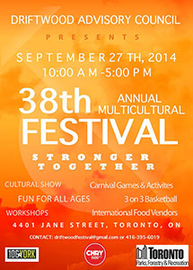 2014 Driftwood Multicultural Festival Poster