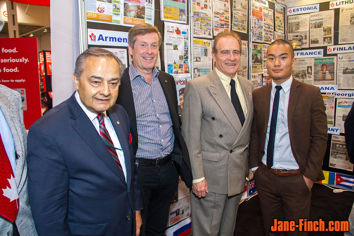 Norm Kelly, John Tory, Thomas Saras, David Nguyen at the CNE