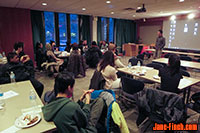 Paul Nguyen speaks to students of York University's NOISE Project.