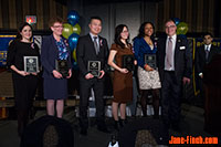 Rotary Youth Impact Awards - Blue Jays Care Foundation, Big Brothers Big Sisters of Toronto, Paul Nguyen, Weiting Xu, Jameika Jackson, Rotary Club of Toronto West President Bruce Gillies