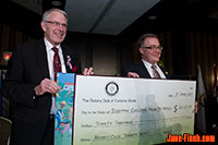 Rotary Youth Impact Awards - Dave Dryden accepts a cheque from President Bruce Gillies