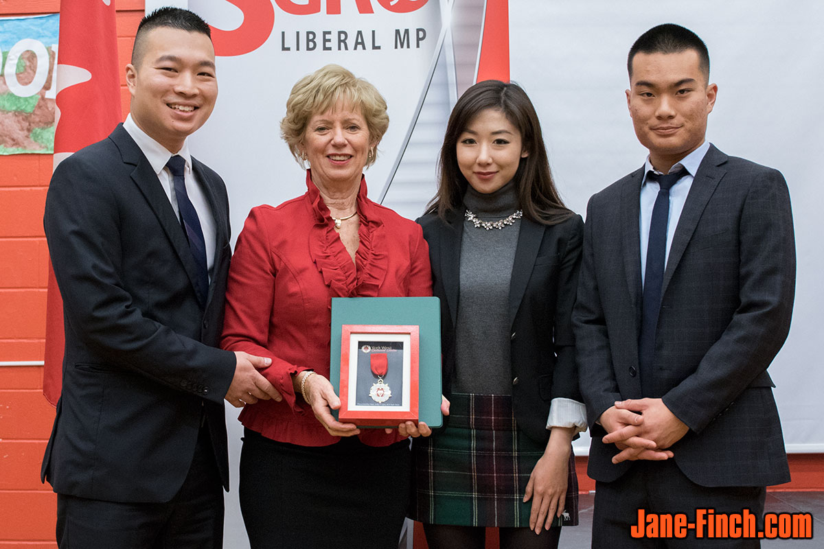 Paul Nguyen, Judy Sgro, Sue Chun and David Nguyen with the York West Centennial Medal