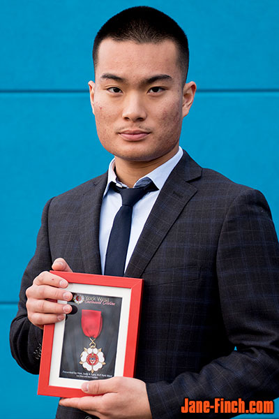 David Nguyen with the York West Centennial Medal