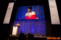 CBC News host Anne-Marie Mediwake hosts the 2014 YWCA Toronto Women of Distinction Awards