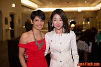Sue Chun with CBC's Anne-Marie Mediwake