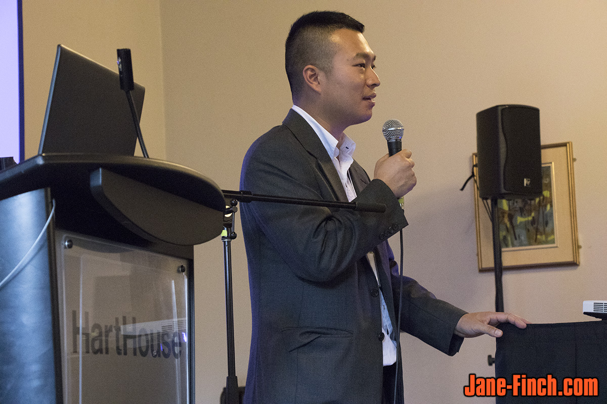 Paul Nguyen speaks at the 2015 Mindfest mental health and wellness fair hosted by the University of Toronto's Department of Psychiatry