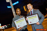 Paul Nguyen and Chris Williams receive the 2015 Ontario Volunteer Service Awards