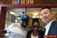Paul Nguyen and Blacus Ninjah with Career Buzz host Nicole Hamilton at CIUT 89.5 FM