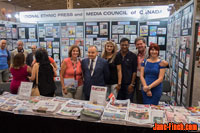 National Ethnic Press and Media Council of Canada pavilion at the 2016 CNE