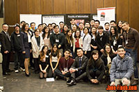 Paul Nguyen gives a keynote at the 2017 United Vietnamese Students' Association of Ontario (UVSA) Professional Mixer