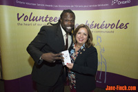 Blacus Ninjah and Kevin Douglas receive the 2016 Ontario Volunteer Service Award