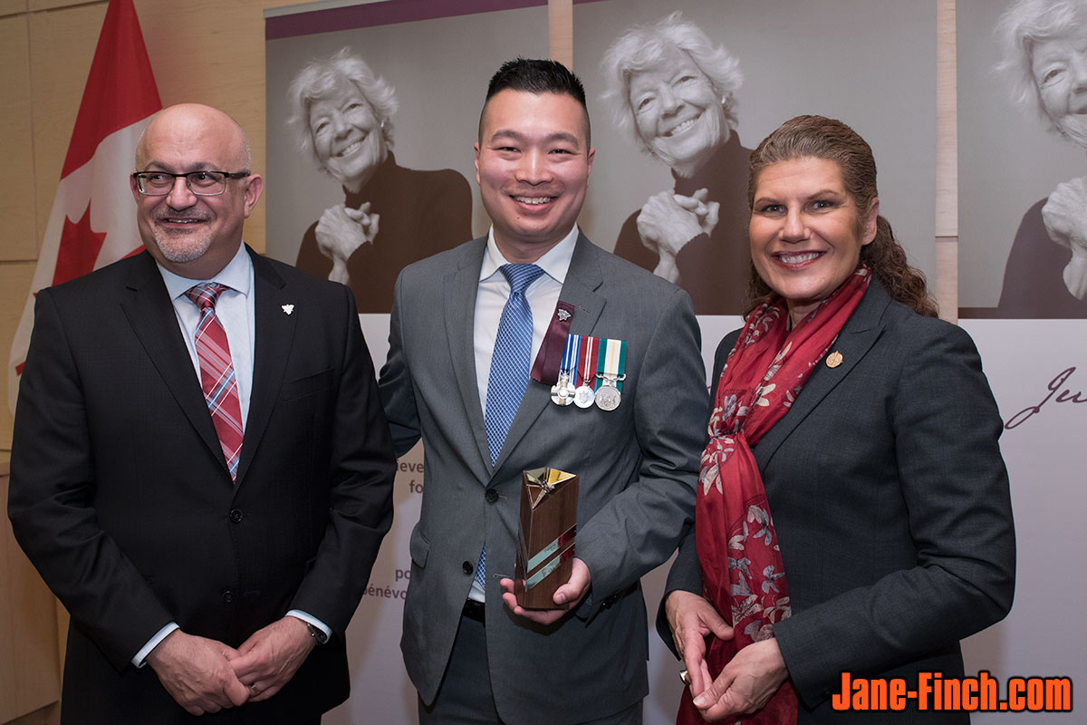 Deputy Minister Alexander Bezzina, Paul Nguyen and Minister of Citizenship and Immigration Laura Albanese at the June Callwood Awards