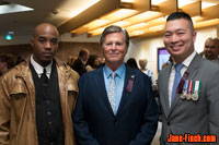 Chris Williams, Gord Martineau and Paul Nguyen at the June Callwood Awards