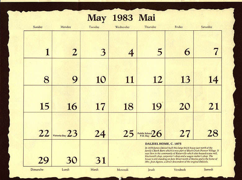 May Calendar History : Jane finch history rural roots of old