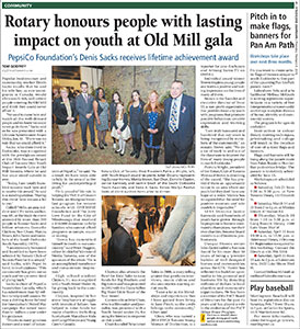 Etobicoke Guardian - PepsiCo's Denis Sacks honoured by Rotary with lifetime achievement award