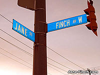 Jane-Finch Street Sign