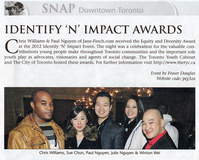 Jane-Finch.com featured in SNAP Downtown Toronto
