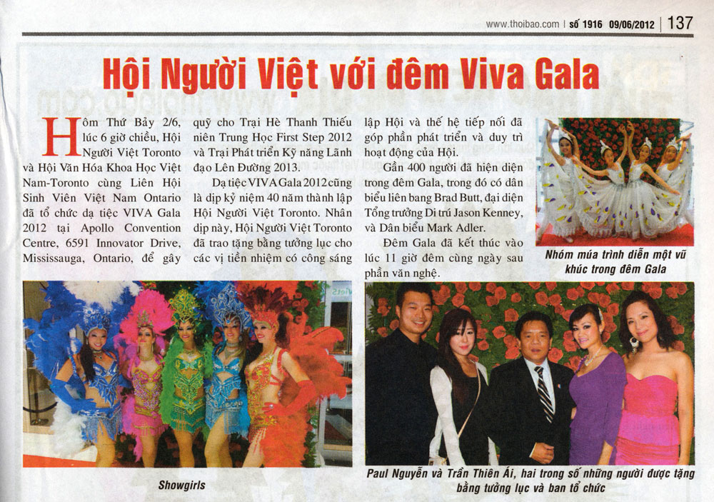 Paul Nguye, Ai Tran and Sue Chun in Thoi Bao Vietnamese Newspaper