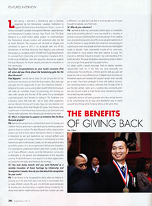 VietSun Magazine - The Benefits of Giving Back